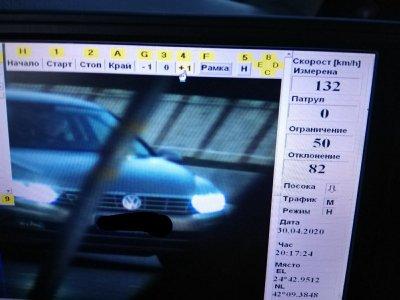 950 лв. глоба ще плати шофьор, карал със 132 км/ч по оживен пловдивски булевард