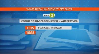БНТ2 ще излъчва уроци в подготовка за матурите