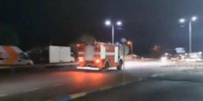 Четири екипа огнеборци се борят с пожара на зеленчуковата борса край Кърналово