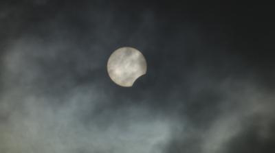 Наблюдавахме частично слънчево затъмнение