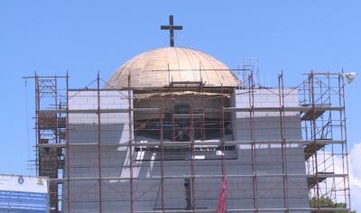 Заради пандемията майстори от Турция няма да позлатят купола на Пантеона в Русе