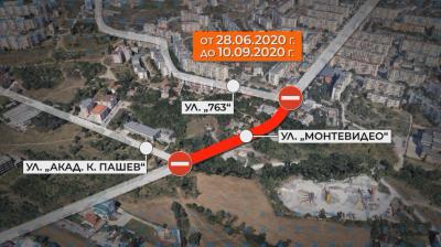 Още един голям ремонт в София: затварят част от улица Монтевидео