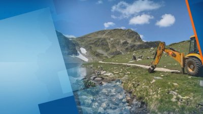 Багер на Седемте рилски езера притесни туристите