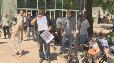 Протест в подкрепа на журналист на БНТ