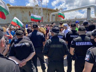 """Напрежение и сблъсъци при протеста в парк """"Росенец"""" (обобщение)"""