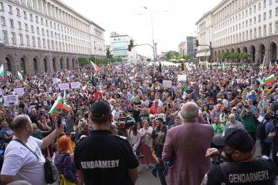 Пети ден протести в центъра на София (обобщение)