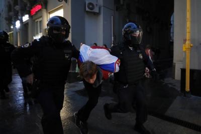 Протести и арести в Москва