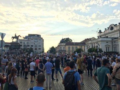 Без инциденти протича протестът