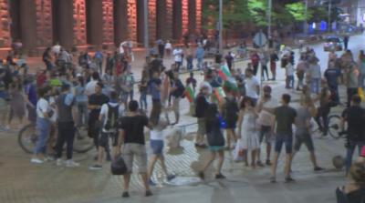 Протестът в София премина под формата на шествие. Ситуацията е спокойна