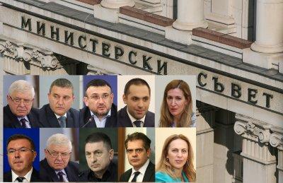 Министерските оставки са внесени в парламента
