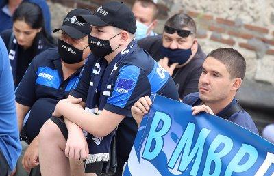 По-малко полицаи на протестите в София заради случаи на заразени с коронавирус