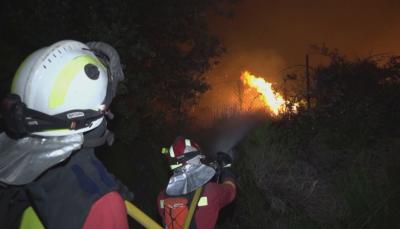 Горски пожар блокира магистрали край Мадрид