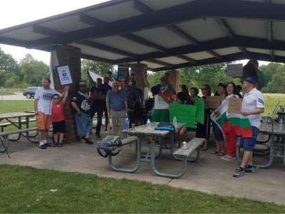 Протест на българи в Чикаго с искане за оставка на правителството