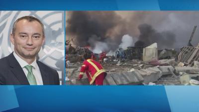 Николай Младенов пред БНТ за взрива в Бейрут: Неотложната ни задача е справянето с последствията