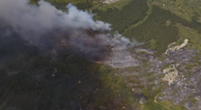 Голям пожар гори 4-ти час край Шумен