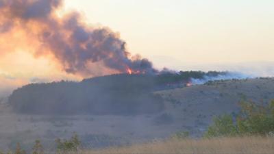 Удължиха бедственото положение в района на Свиленград заради пожара