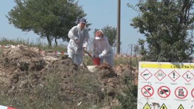 Проверяват нерегламентирано сметище със загробени пестициди край Червен бряг