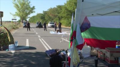 Образуваха съдебно дело за блокадата на пътя Стара Загора - Хасково