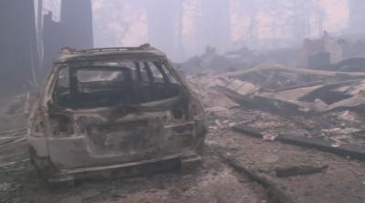 Огненият ад в Калифорния от първо лице