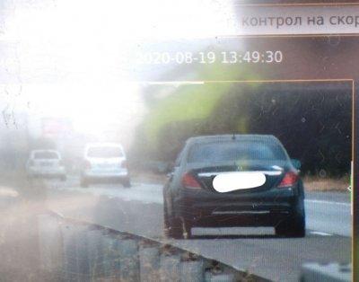 """Автомобил със софийска регистрация лети с 233 км/ч по """"Тракия"""""""