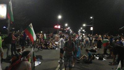 Протестиращите в Пловдив блокираха кръстовището пред сградата на Международния панаир
