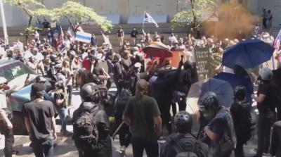 Сблъсъци при протестите в Портланд