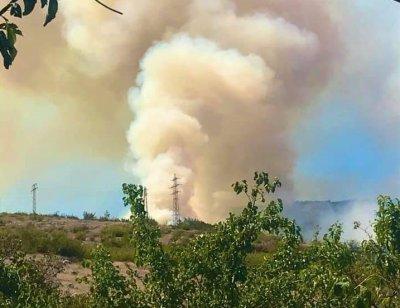 Пожарникари и доброволци гасят голям пожар край Кричим