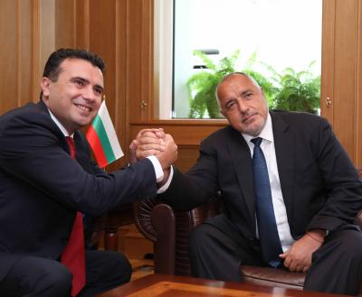 Бойко Борисов поздрави Зоран Заев за новия му премиерски мандат