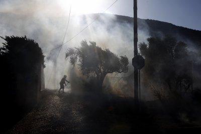Нов пожар в бежанския лагер Мориа на Лесбос