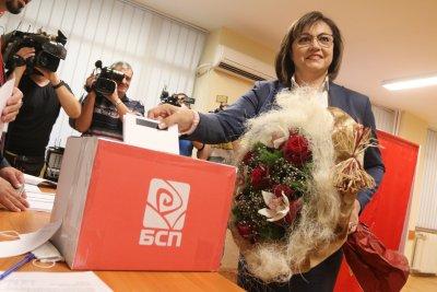 По предварителни данни: Корнелия Нинова печели вота за председател на БСП
