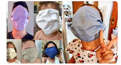 Заради грешка в размера: Учениците в Гърция получиха огромни предпазни маски