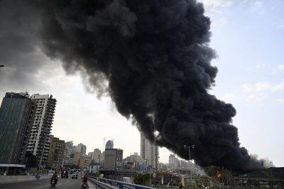 Пожар на пристанището на Бейрут