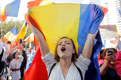 Протест в Румъния срещу носенето на маски в училище