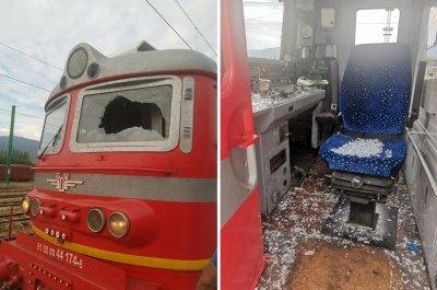 Все още няма яснота кой е счупил стъкло на локомотива по линията София-Бургас