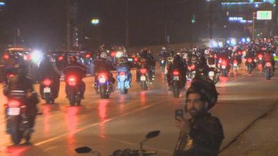 Голям интерес беляза масовото нощно каране в памет на загиналите мотористи