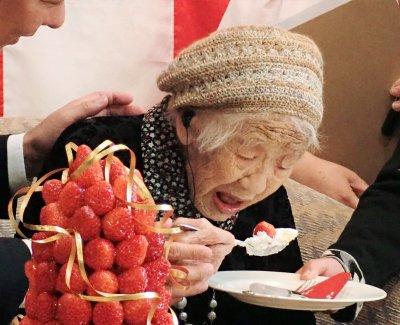 Японка на 117 подобри рекорда по продължителност на живота