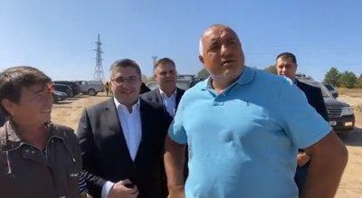 """Борисов инспектира строежа на магистрала """"Хемус"""" при Плевен"""