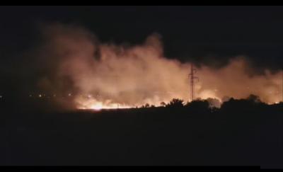 Пожар избухна край Марикостиново, няма опасност за населеното място