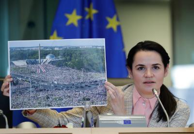 Министрите на външните работи от ЕС разговаряха в Брюксел със Светлана Тихановская