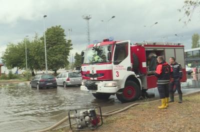 Порой наводни улици в Благоевград