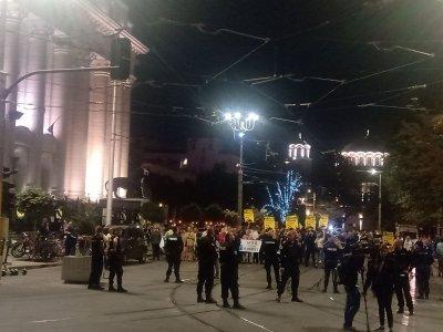 Ден 77 на антиправителствен протест в столицата