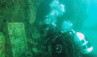 Подводен параклис в Залива на крокодилите в Приморско