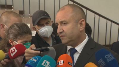 Радев: Ще внеса предложенията си за промяна в Конституцията, когато парламентът придобие легитимност