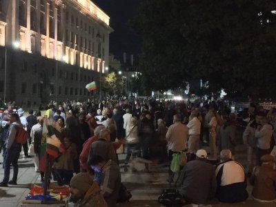 82-а вечер на протести в София