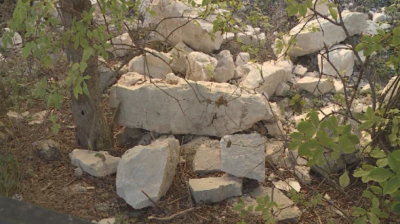 Скална маса се срути в пешеходната зона до стадиона в Балчик