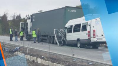 Съдът остави в ареста шофьора на тира от катастрофата край Лесово