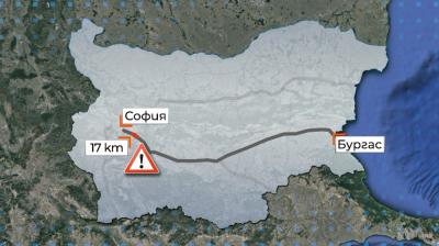 """Карайте внимателно на магистрала """"Тракия"""" при 17-ия км, в посока София"""