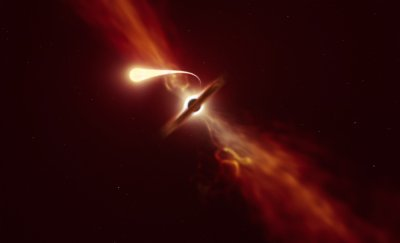 Астрономи успяха да заснемат как черна дупка поглъща звезда