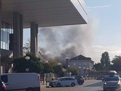 Пожар в района на Централна гара