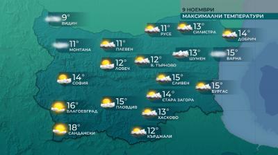 Значителна облачност в повечето райони днес